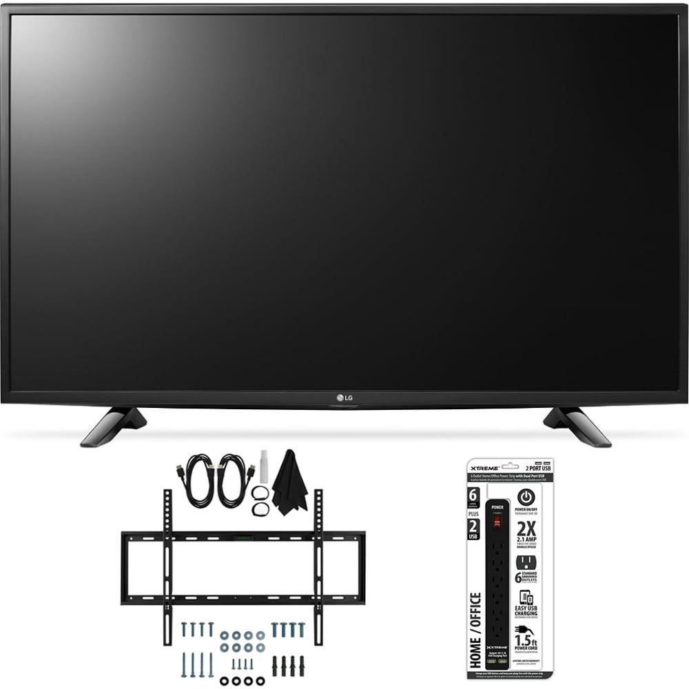 LG 49LH5700 49-Inch Full HD Smart LED TV Slim Flat Wall Mount Bundle