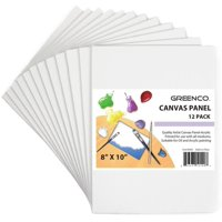Greenco Professional Quality Canvas Panel 8 x 10 inch - Pack of 12