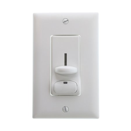 Pass & Seymour DS603PWV Preset Slide Lighted Dimmer, 3-Way, 600W, White