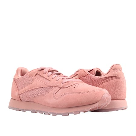 Reebok Classic Leather Lace Sandy Rose/White Women's Running Shoes BS6523