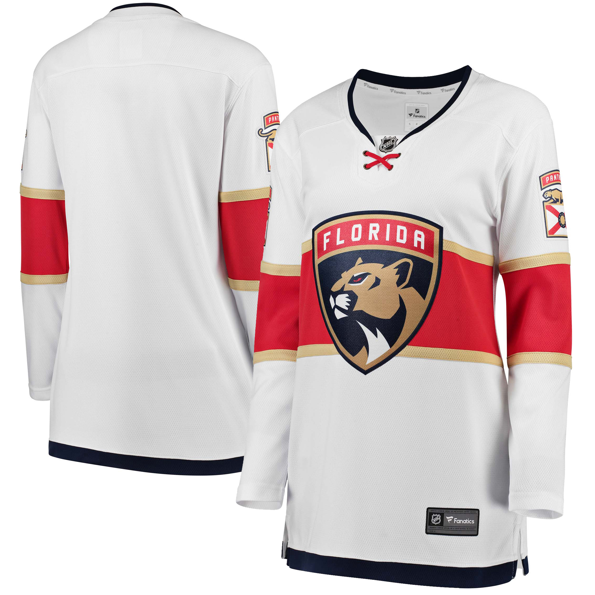 Florida Panthers Fanatics Branded Women's Away Breakaway Jersey - White
