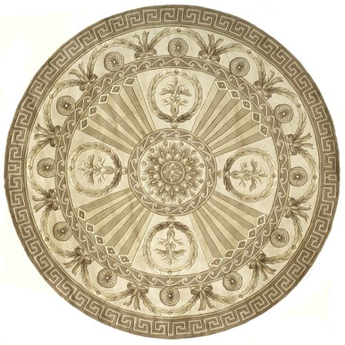 Momeni Aubusson Regal Hand-tufted Wool Area Rug (7'9 Round) by Overstock