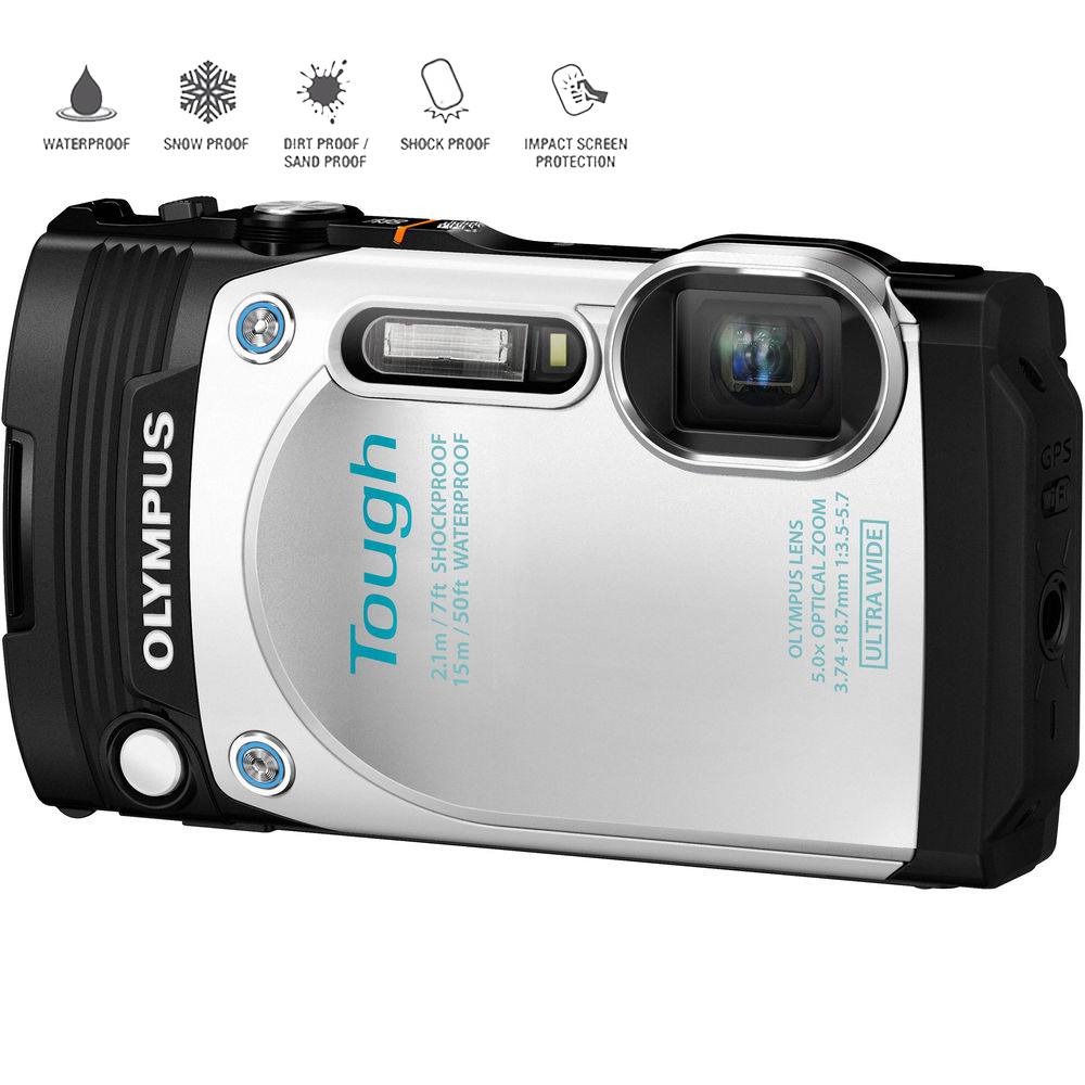 Olympus TG-870 Tough Series Digital Camera- White