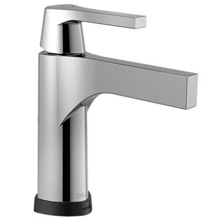 Delta 574T-DST Zura Single Hole Bathroom Faucet with On/Off Touch and Proximity Sensor Activation and Pop-Up Drain Assembly - Includes Lifetime Warranty (5 Year on Electronic Parts)