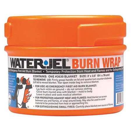 Waterjel Burn Wrap Canister 30 In  X 36 In   3630 1 Orange