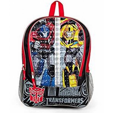 Transformers 16 inch Backpack with Side Mesh Pockets, Bumblebee & Optimus