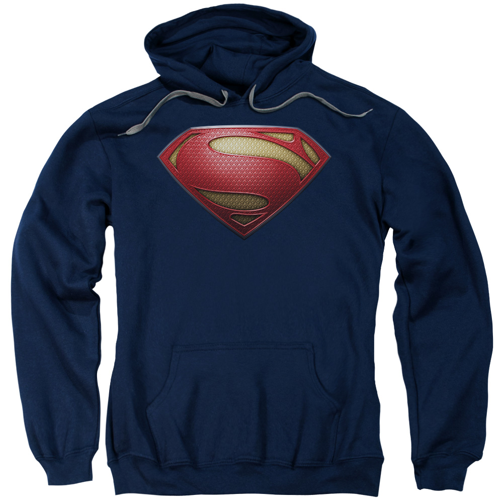 Man of Steel Superman Mos Shield Mens Pullover Hoodie