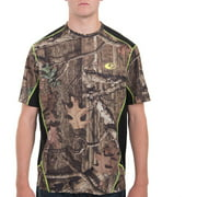 Realtree and Men's Performance Camo Colorblock Tee