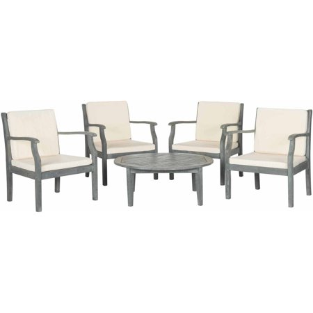 Anaheim 3 Piece Set - Safavieh Anaheim 5-Piece Coffee Set, Ash Grey