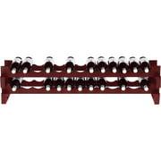 Wine Enthusiast 26-Bottle Horizontal Stackable Hardwood Wine Rack, Mahogany