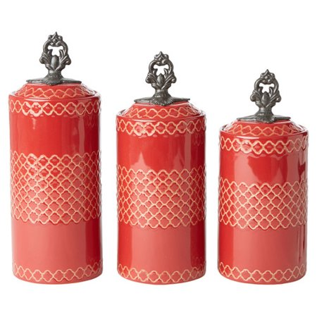Design guild rhone 3 piece kitchen canister set for Spong kitchen set 702