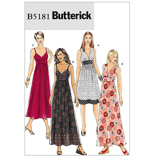 Butterick Pattern Misses' Dress, BB (8, 10, 12, 14)