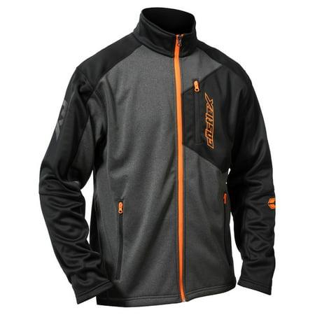 castle x fusion g2 mens mid-layer jacket black/gray/orange (Fusion Motorcycle)
