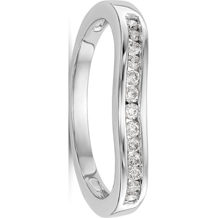 Designer 14K White Gold Diamond Band Made In India -Jewelry By Sweet Pea (Cost Of 1 Carat Diamond In India)
