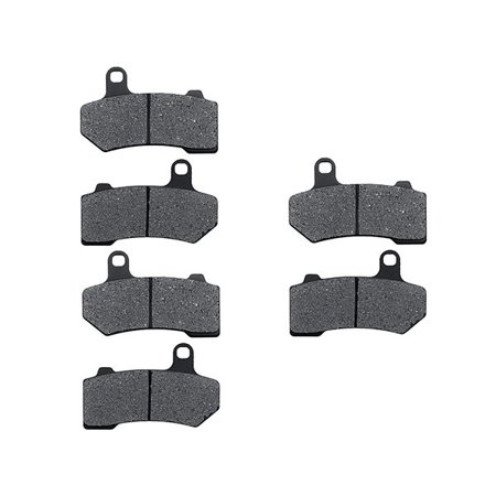 KMG Front + Rear Brake Pads Compatible with 2008-2011 Harley FLHX Street Glide - Non-Metallic Organic NAO Brake Pads Set - image 1 of 4
