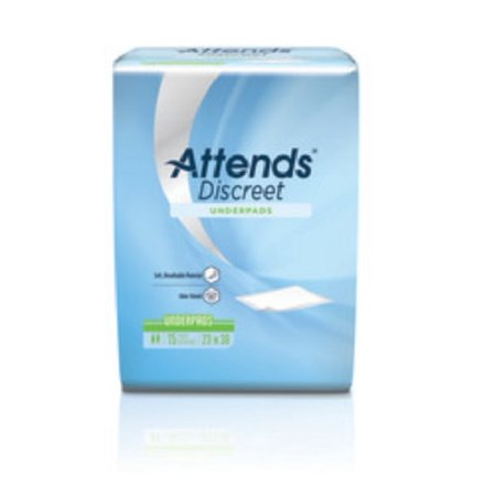 Attends Disposable Sheets for Incontinence, 36 x 23 In, 15 Ct Incontinence Bed Sheets