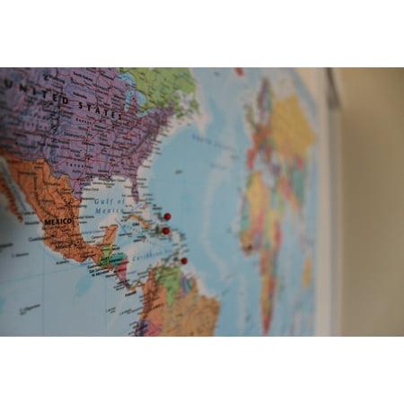 Journey Framed - Framed Art For Your Wall Global Map Journey International Pin World Travel 10x13 Frame