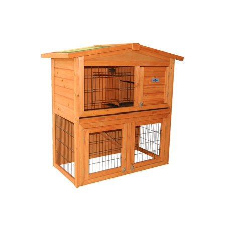 Confidence pet 40 rabbit hutch bunny guinea pig cage pen for Free guinea pig hutch