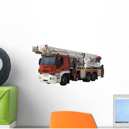 Firefighter Car Wall Decal by Wallmonkeys Peel and Stick Graphic (12 in W x 8 in H) WM223800