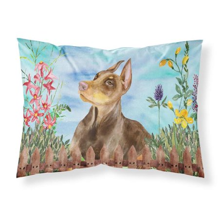 Carolines Treasures CK1271PILLOWCASE Doberman Pinscher Spring Fabric Standard Pillowcase - image 1 de 1