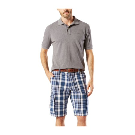 Dockers Mens Plaid Casual Cargo Shorts