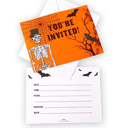 Spooky Scenes Invitations - Walmart Halloween Invitations