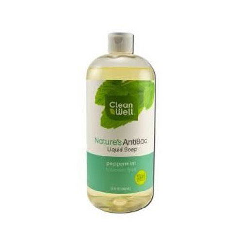Clean Well Nature's AntiBac Peppermint Liquid Soap, 32 Oz
