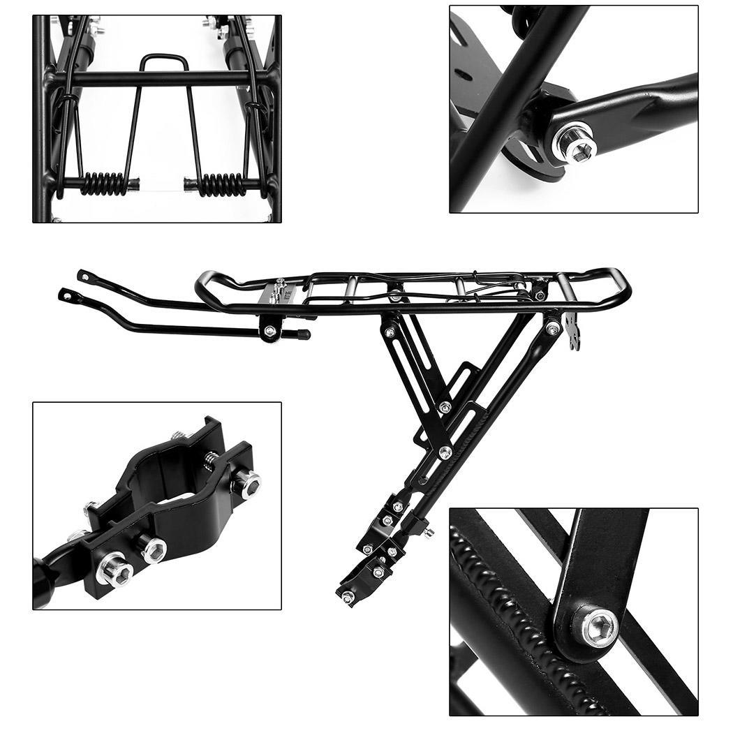 Back Rear Bag Pannier Rack Aluminum Alloy Bike Bicycle Seat Post Frame Carrier Holder