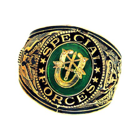 Official US Special Forces Deluxe Engraved Gold Color Ring (Us Air Force Ring)