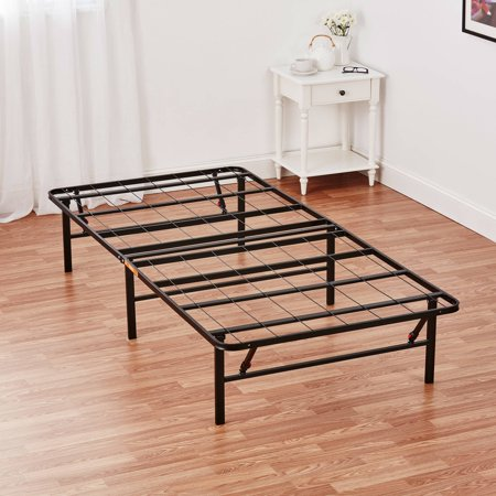 Mainstays 14 high profile foldable steel bed frame with for Portable bed ideas