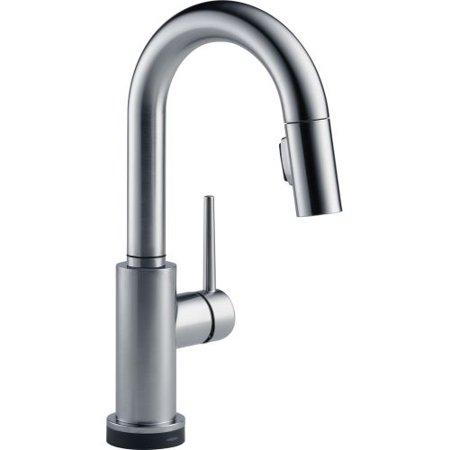 Delta Trinsic Single Handle Pull-Down Bar / Prep Faucet with Touch2O Technology, Arctic -