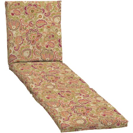 Mainstays outdoor chaise cushion fiesta jacobean for 23 w outdoor cushion for chaise