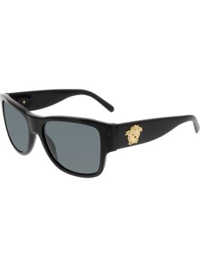 e32b2183514 Product Image Women s VE4275-GB1 87-58 Black Square Sunglasses. Versace