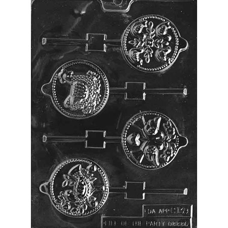 Christmas 12 Days of 4 Different Lollipop Sucker Chocolate Mold Mould Party Favor Candy Soap M52 ()