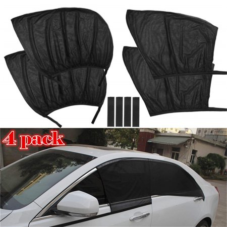 4-Pack Car Window Shade, Car SUV Premium Rear Side Window Sun Visor Shade Mesh Cover Shield Sunshade UV Protector, Universal Fit Car Trucks and