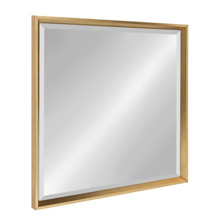 Square Framed Mirror (Kate and Laurel Calter Framed Square Mirror, 28 x 28, Gold)