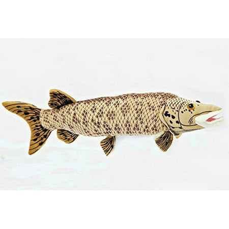 """Muskellunge 10"""" Stuffed Plush Animal - Cabin Critters Freshwater Fish Collection"""
