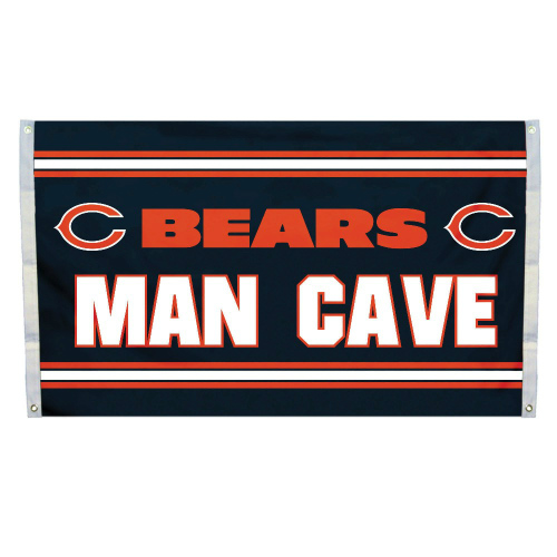 Fremont Die Inc Chicago Bears Man Cave Flag With 4 Grommets Flag