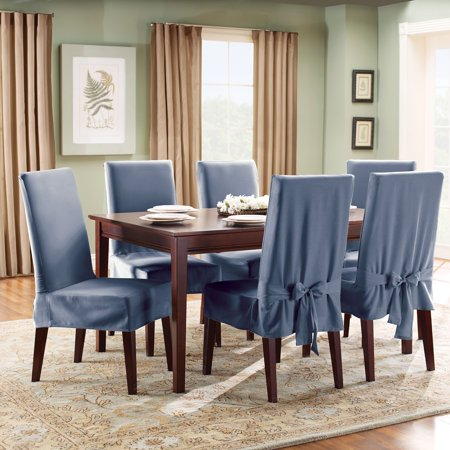 Terrific Sure Fit Cotton Duck Dining Room Chair Cover Cjindustries Chair Design For Home Cjindustriesco