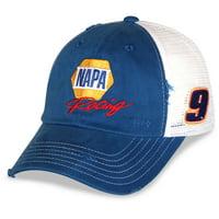 Men's Checkered Flag Royal/White Chase Elliott NAPA Adjustable Snapback Hat - OSFA