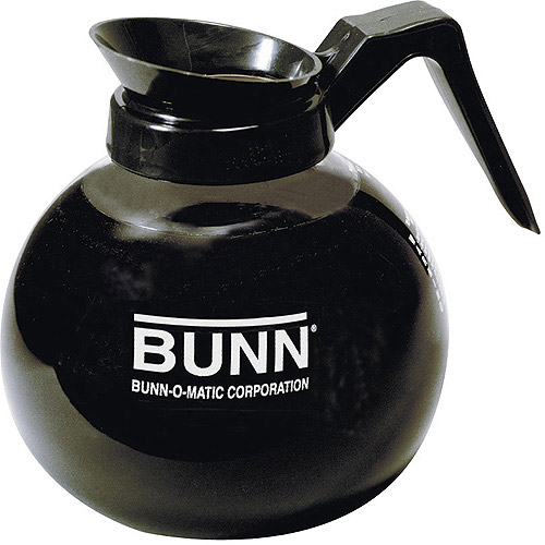 BUNN 12-Cup Commercial Glass Decanter, Black Handle- Regular, 42400.0101