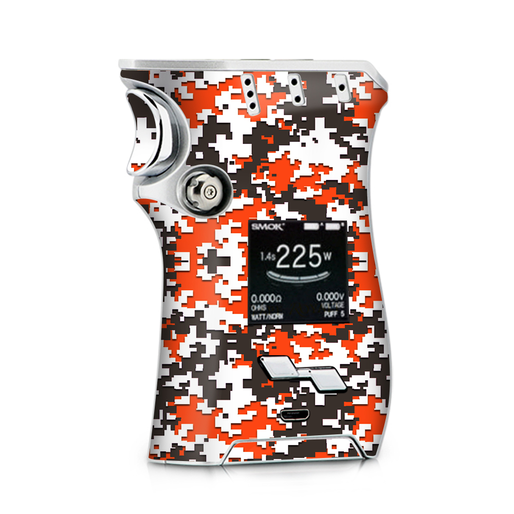 Skin Decal for Smok Mag + TFV12 Prince tank Vape / Digi Camo Team Colors Camouflage Orange Brown