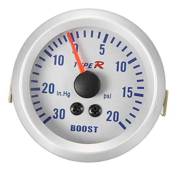 "AUDEW Car Boost Vacuum Gauge Meter 52mm 2"" 20 PSI 30 In Hg Mechanical Auto ATM5701 ATM 5701 US by AUDEW"