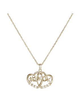 Keepsake Personalized Family Jewelry Petal 5 Simulated Birthstone Pendant in 14K Yellow Gold