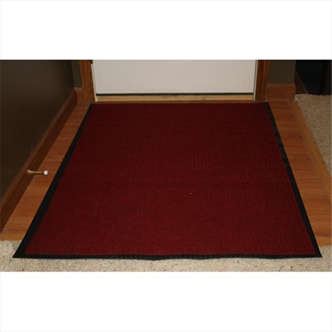 Durable Corporation 613S0048RD 4 ft.  W x 8 ft.  L Spectra Rib Entrance Mat in Red