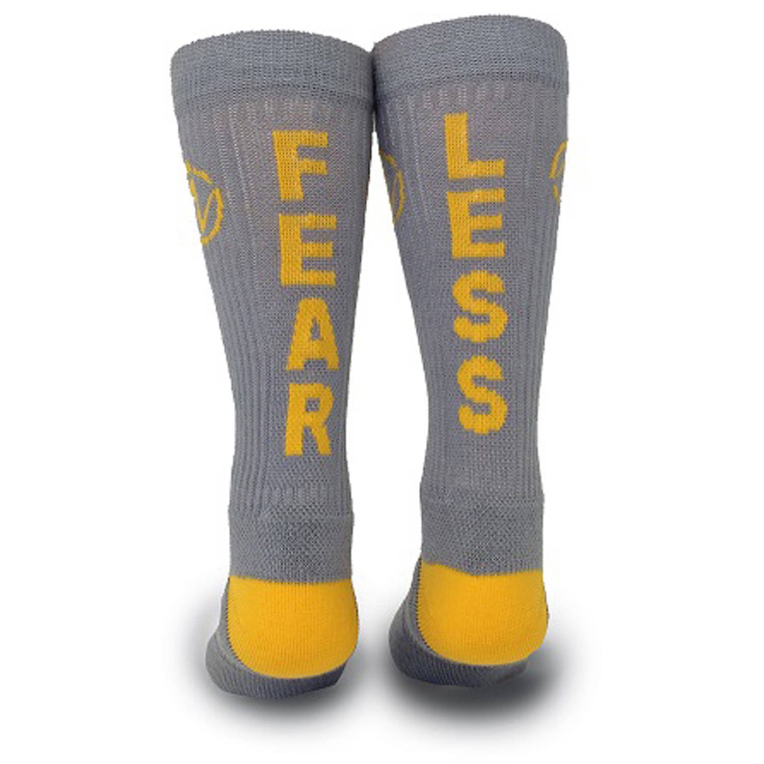 Inspyr Socks Fear Less Athletic Lifestyle Crew Sock
