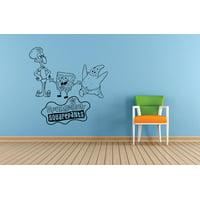 Patrick Squidward Spongebob Squarepants Cartoon Kids Children School Classroom Daycare Pre School Art Custom Wall Decal Vinyl Sticker 12 Inches X 12 Inches
