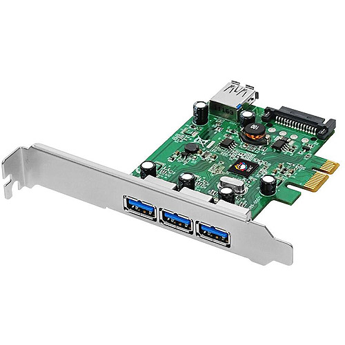 SIIG Dual Profile PCI Express 4-Port SuperSpeed USB 3.0 Host Adapter