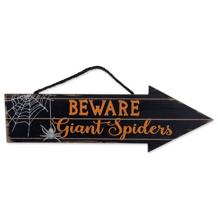 DII Indoor and Outdoor Wood Fall Halloween Hanging Door Decorations and Wall Signs, Haunted House Decor, For Home, School, Office, Party Decorations - Beware Of - Food Ideas For Office Halloween Party