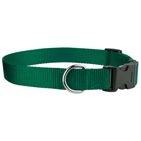 Country Brook Design® Economy Nylon Dog Collars(Various sizes & colors available) Counter Display Red Nylon Handle